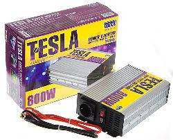 Преобразователь напряжения TESLA 12V-220V 800W USB-5VDC0.5A мод.волна клеммы