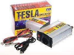 Преобразователь напряжения TESLA 12V-220V/300W/USB-5VDC0.5A/мод.волна/прикуриватель/клеммы