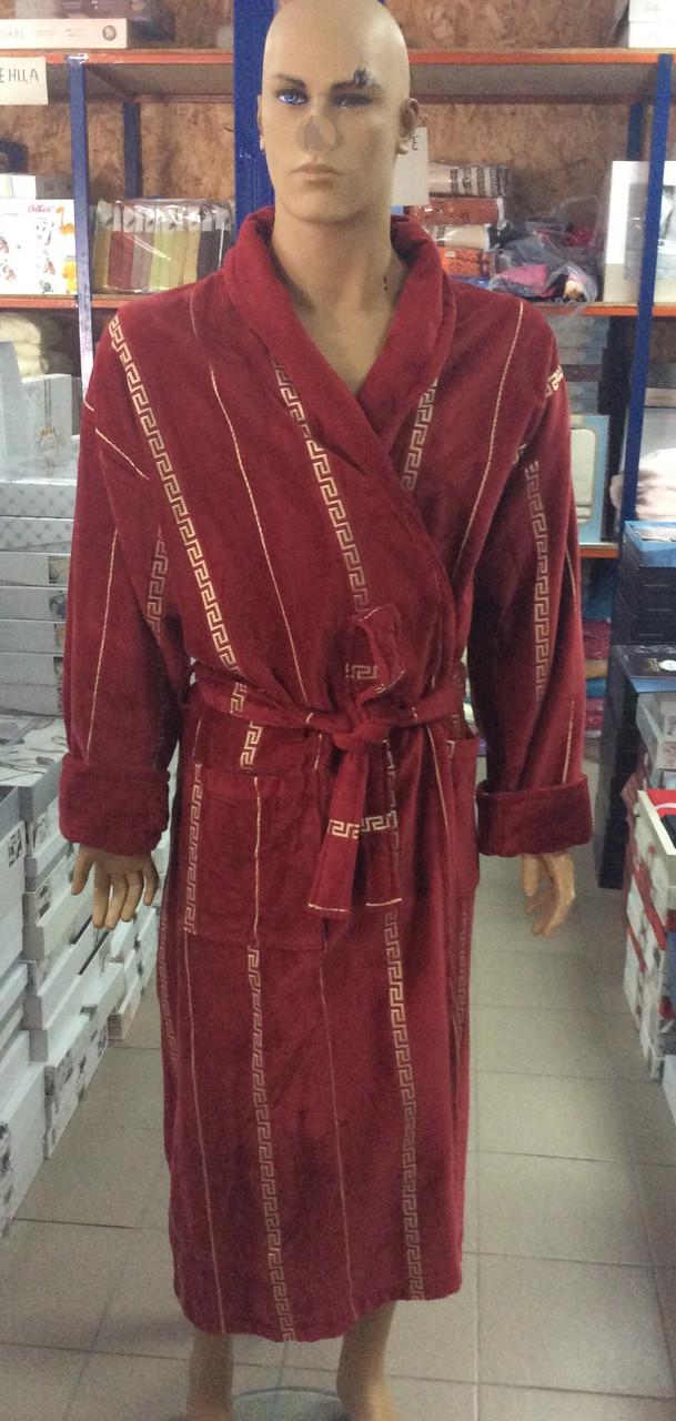 Мужской халат Версаче бордо