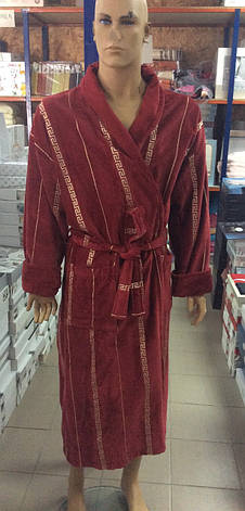 Мужской халат Версаче бордо, фото 2