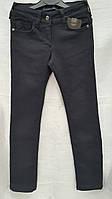 Утепленные коттоновые брюки для девочек Школа
