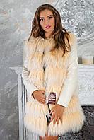 """Меховое пальто из ламы """"Инесса"""""""