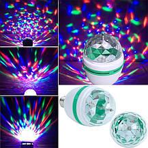 Светодиодная вращающаяся диско лампа LED Full Color Rotating Lamp Mini Party Light, фото 2