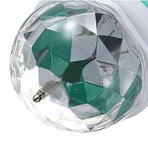 Светодиодная вращающаяся диско лампа LED Full Color Rotating Lamp Mini Party Light, фото 3