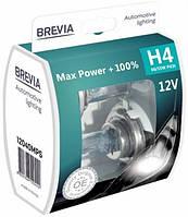 Лампа автомоб. Н4 12V 55/60W +100% Max Power Brevia (2шт/комп)