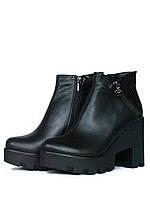 Зимние ботинки женские кожаные