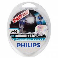 Лампа автомоб. Н4 12V 60/55W +130% галоген X-treme Vision PHILIPS (2шт)
