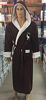 Мужские махровые халаты CAMEL коричневый