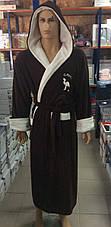 Мужские махровые халаты CAMEL коричневый, фото 3