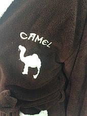 Мужские махровые халаты CAMEL коричневый, фото 2