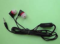 Наушники ASRA-700 3.5мм (4pin) чёрные, с кнопкой приёма звонка