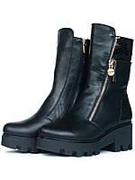 Ботинки женские демисезонные кожаные, фото 1