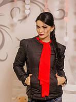 Стильная женская курточка с шифоновым шарфом