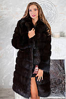 "Шуба из темной куницы ""Галла"" marten fur coat jacket, фото 1"