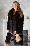 """Шуба из темной куницы """"Галла"""" marten fur coat jacket, фото 2"""