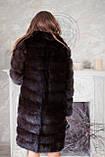 """Шуба из темной куницы """"Галла"""" marten fur coat jacket, фото 3"""
