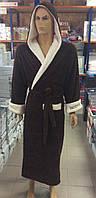 Мужские махровые халаты BODYGUARD коричневый