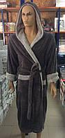 Мужские махровые халаты BODYGUARD темно-серый
