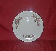 """Тарелка десертная керамика 17.5 см """"Розовая роза"""""""
