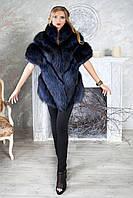 """Жилет из чернобурки  """"Ева"""" Silver foxfur vest gilet sleeveless, фото 1"""