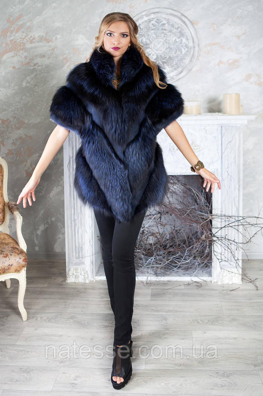 """Жилет из чернобурки  """"Ева"""" Silver foxfur vest gilet sleeveless"""