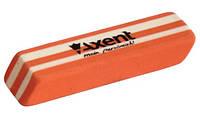 Резинка двухцветная оранжево-белая, каучук. AXENT