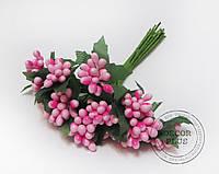 Тычинки гладкие розовые