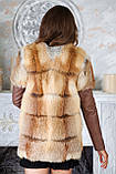 """Куртка і жилет з хутра лисиці """"Клер"""", фото 4"""