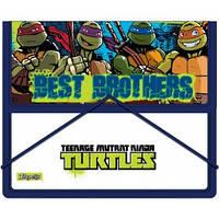 """Папка для зошитів пласт. на гумці В5 """"Ninja Turtles"""" 491055"""