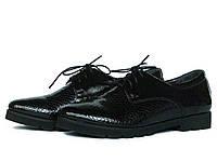 Лаковые туфли на тракторной подошве, фото 1