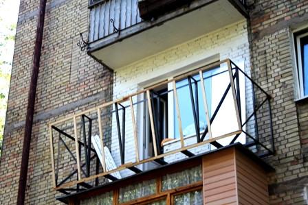 Варианты выноса балкона в сталинке