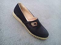 Балетки туфли женские замшевые черные 36 - 41 р
