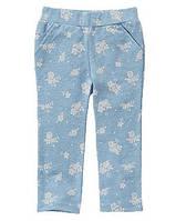 Штаны трикотажные для девочек 2, 3 года Цветочный принт Crazy8 (СШA)
