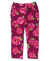 Штаны трикотажные для девочек 3 года Цветочный принт Crazy8 (СШA)