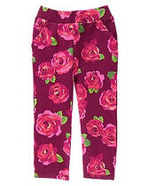 Штаны трикотажные на девочку 2, 3 года Цветочный принт Crazy8 (СШA)