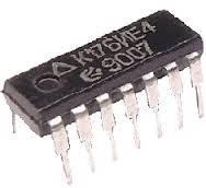 К176ИЕ4. счетчик по модулю 10 с выводом на 7-сегментный индикатор  DIP14