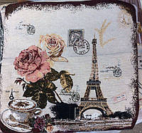 Декоративная наволочка с вышивкой Ейфелевая башня, фото 1