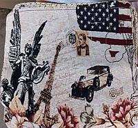 Декоративная наволочка с вышивкой машинка, фото 1
