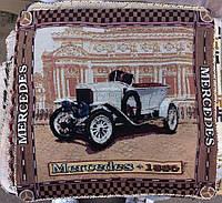 Декоративная наволочка с вышивкой машина 2, фото 1