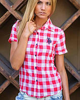 Молодежная рубашка | Рolo в крупную клетку короткий рукав sk