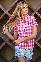 Молодежная рубашка | Рolo в крупную клетку короткий рукав sk, фото 2