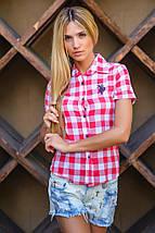 Молодежная рубашка | Рolo в крупную клетку короткий рукав sk, фото 3