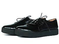 Кожаные туфли на толстой подошве