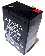 Аккумулятор ATABA 6v 6 Ah MS