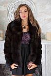 """Шуба из темной куницы """"Галла"""" marten fur coat jacket, фото 5"""