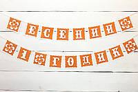 Гирлянда Есении 1 годик Оранжевая, фото 1