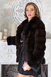 """Шуба из темной куницы """"Галла"""" marten fur coat jacket, фото 6"""