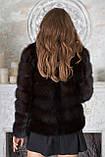 """Шуба из темной куницы """"Галла"""" marten fur coat jacket, фото 7"""
