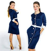 Темно-синее платье 15573