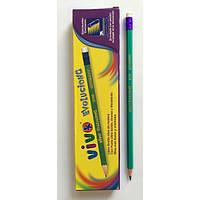 Олівець простий чорнографітний з гумкою Conte-Vivo дублікат 17,5 см уп12